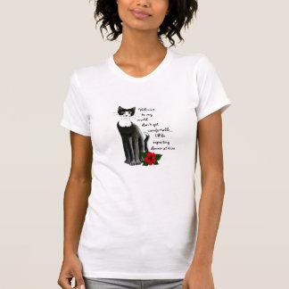 """""""Cartoon Kitties"""" Black/White Cat T-Shirt"""