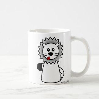 Cartoon Lion - AwwNIMALS Basic White Mug