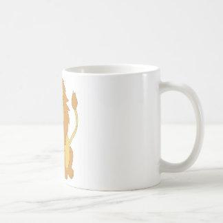 Cartoon Lion Basic White Mug
