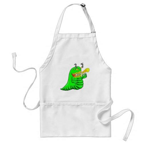 Cartoon Lizard Dragon Art Apron