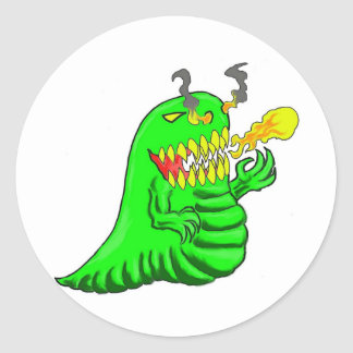 Cartoon Lizard Dragon Art Classic Round Sticker