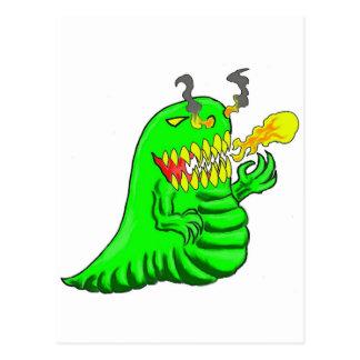 Cartoon Lizard Dragon Art Postcards