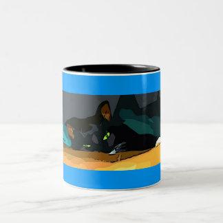 Cartoon Lucy Two-Tone Coffee Mug