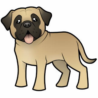 Cartoon Mastiff / Bullmastiff Photo Sculpture Magnet