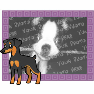 Cartoon Miniature Pinscher / Manchester Terrier Photo Sculpture Magnet