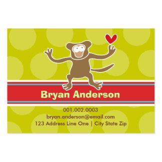 Cartoon Monkey Kid Photo Profile / Name Card Business Cards
