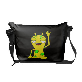 Cartoon Monster Waving Commuter Bags