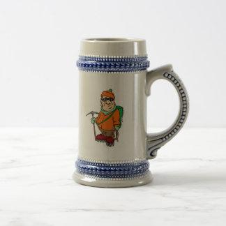 Cartoon Mountain Climber Mugs