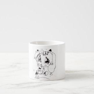 Cartoon 6 Oz Ceramic Espresso Cup
