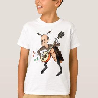 Cartoon Musician Cricket T-Shirt