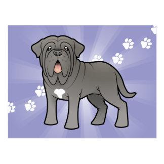 Cartoon Neapolitan Mastiff Postcard