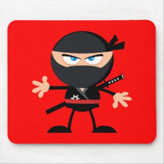 Cartoon Ninja Warrior Red Mouse Pad