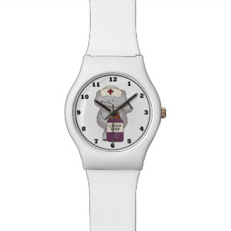 Cartoon Nurse Elephant wrist watch