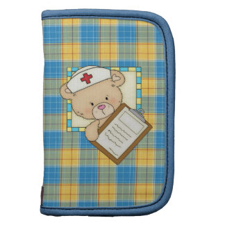 Cartoon Nurse mini folio Organizer