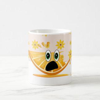 Cartoon Orange Fruit Slice mug