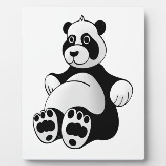 Cartoon Panda Bear Stuffed Animal Plaque