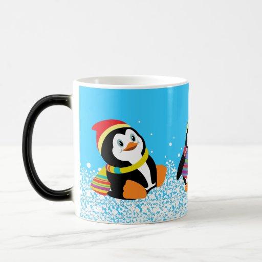 cartoon penguins mug