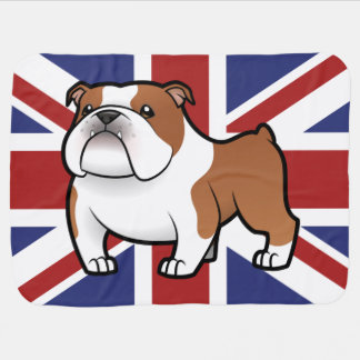 Cartoon Pet with Flag Baby Blanket