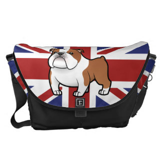 Cartoon Pet with Flag Courier Bags
