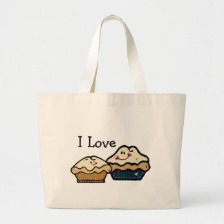 Cartoon Pies for Pie Day January 23rd Large Tote Bag