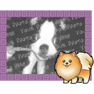 Cartoon Pomeranian Photo Frame Photo Sculpture Magnet
