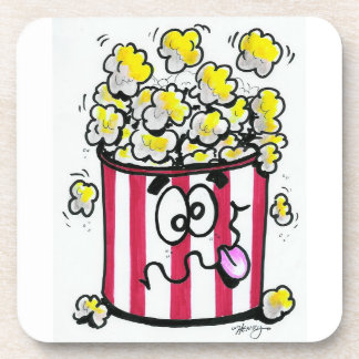 Cartoon popcorn coaster