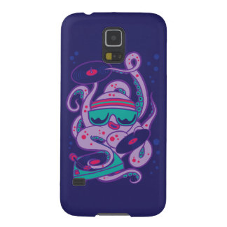 CARTOON PSYCHEDELIC OCTOPUS DJ with Turntable Case For Galaxy S5