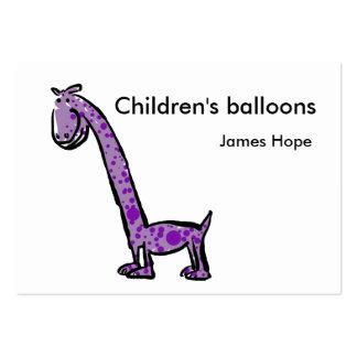 cartoon purple dinosaur artwork  customize text/b pack of chubby business cards