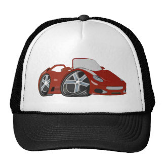 Cartoon Red Car Art Mesh Hats