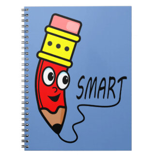 Cartoon Red Cartoon Character on Notebook