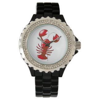 cartoon red lobster wrist watches