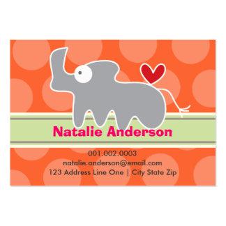 Cartoon Rhino Kid Photo Profile / Name Card Business Cards