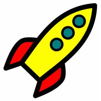 Cartoon Rocket Standing Photo Sculpture