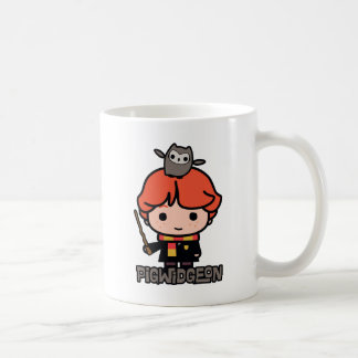 Cartoon Ron Weasley and Pigwidgeon Coffee Mug