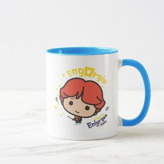 Cartoon Ron Weasley Engorgio Spell Mug