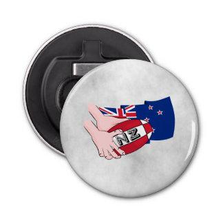 Cartoon Rugby Ball Pass New Zealand Flag