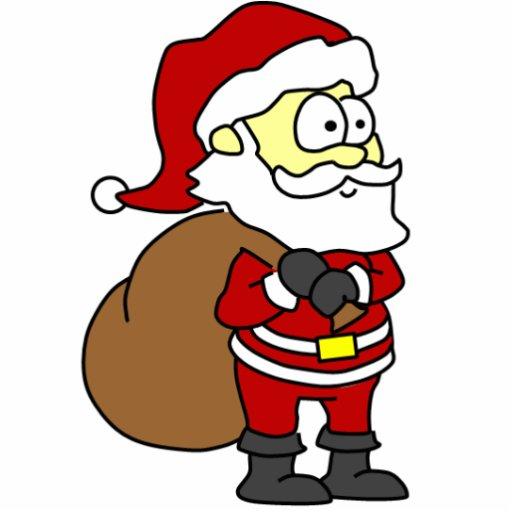 Cartoon Santa Photo Cutout