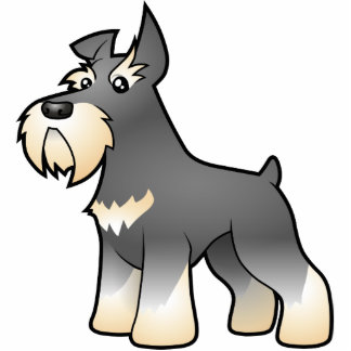 Cartoon Schnauzer Photo Sculpture Magnet