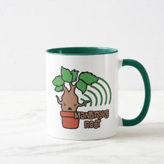 Cartoon Screaming Mandrake Character Art Mug