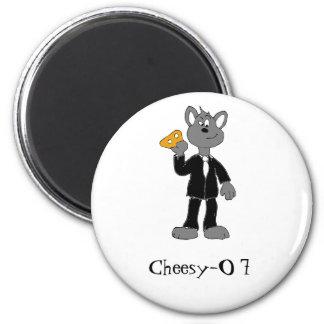 Cartoon Secret Agent Mouse 6 Cm Round Magnet