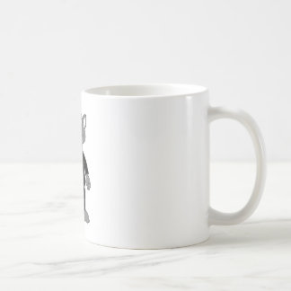 Cartoon Secret Agent Mouse Basic White Mug