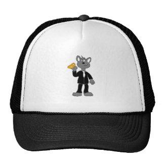 Cartoon Secret Agent Mouse Trucker Hat