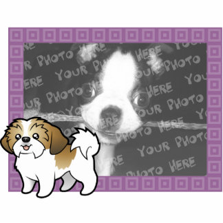 Cartoon Shih Tzu Photo Frame (puppy cut) Photo Sculpture Magnet