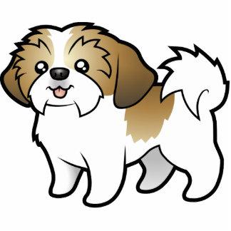 Cartoon Shih Tzu (puppy cut) Photo Sculpture Magnet