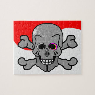 Cartoon Skull and Cross Bones Jigsaw Puzzle