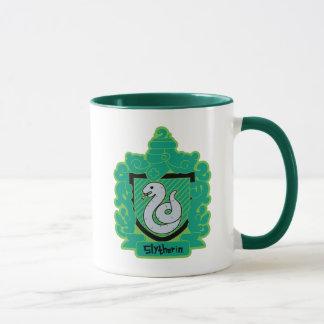 Cartoon Slytherin Crest Mug
