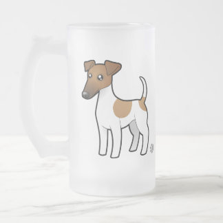 Cartoon Smooth Fox Terrier Frosted Glass Mug