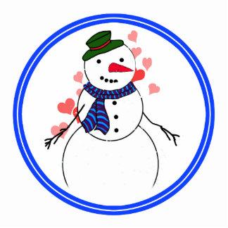 Cartoon Snowman Little Flirty Boy Photo Sculptures