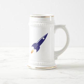 Cartoon Space Rocket Beer Steins