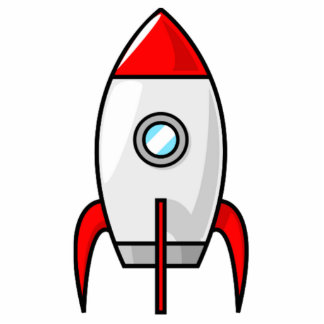 Cartoon Space Rocket Acrylic Cut Out